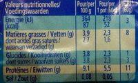 Petit Suisse Gervais - Voedingswaarden - fr