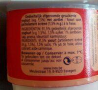 Yaourt demi-écrémé fraise - Ingrediënten