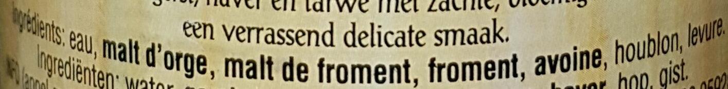 """Bière """"3 grains"""" - Ingredients - fr"""