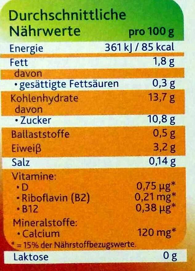 Soya Dessert Softer Karamell - Nutrition facts