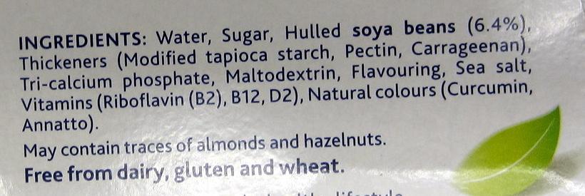 Heavenly Velvet Vanilla Flavour Soya Dessert U.H.T. 4 x (500g) - Ingredients - en