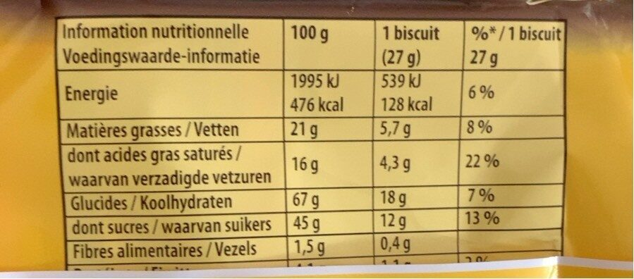 Cha-Cha - Nutrition facts - fr