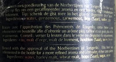 Triple - Ingredients - fr