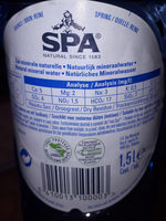 Spa - Nutrition facts - en