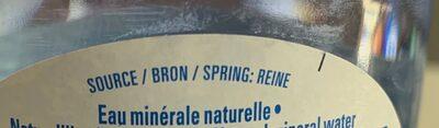 Eau minérale naturelle - Ingrediënten