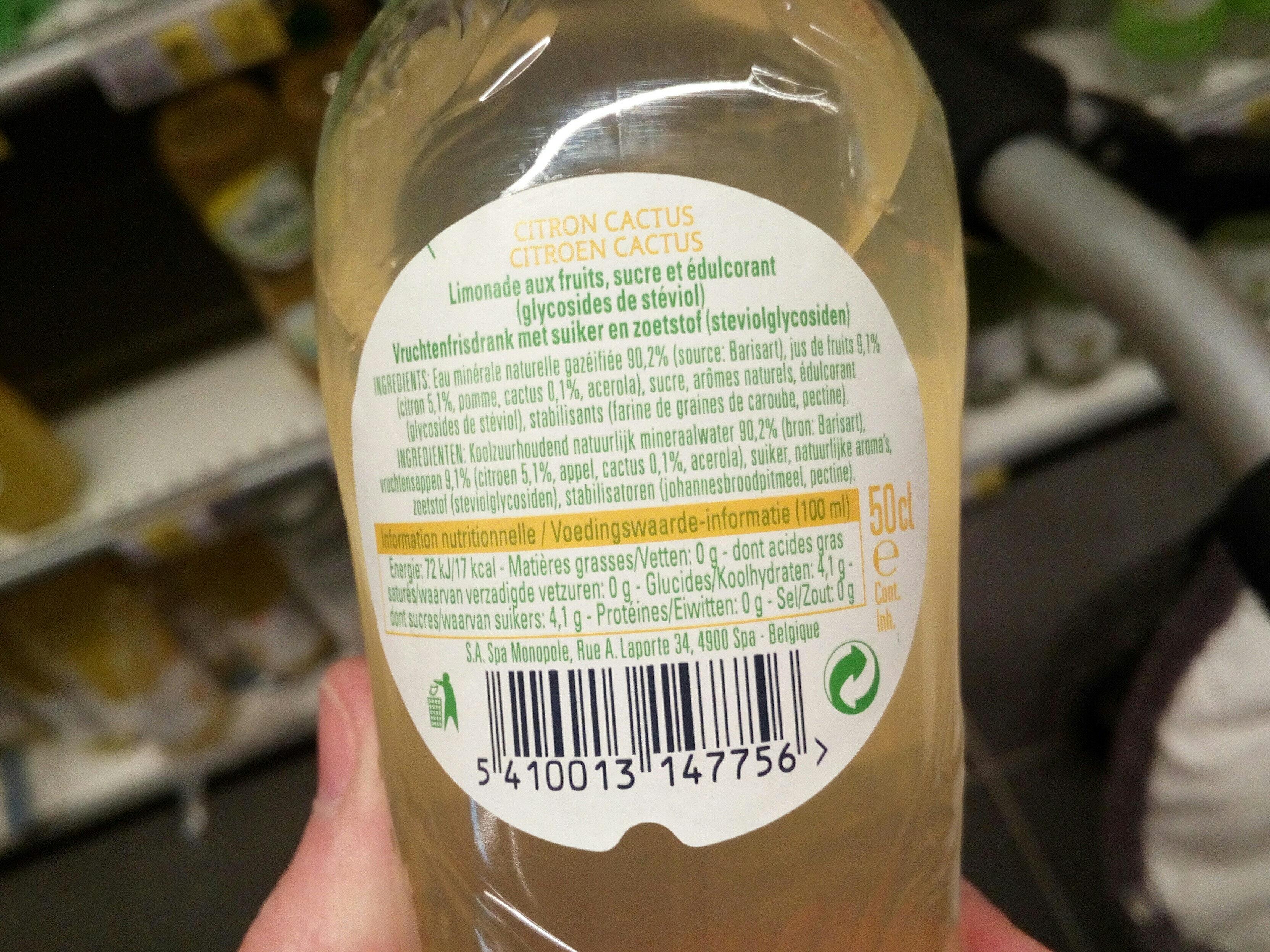 Spa fruit - Ingrédients