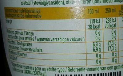 Spa lemon cactus - Voedingswaarden