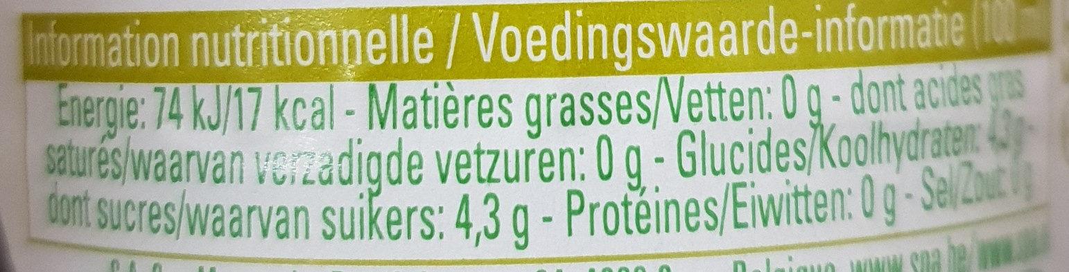 Duo Lime Ginger - Voedingswaarden