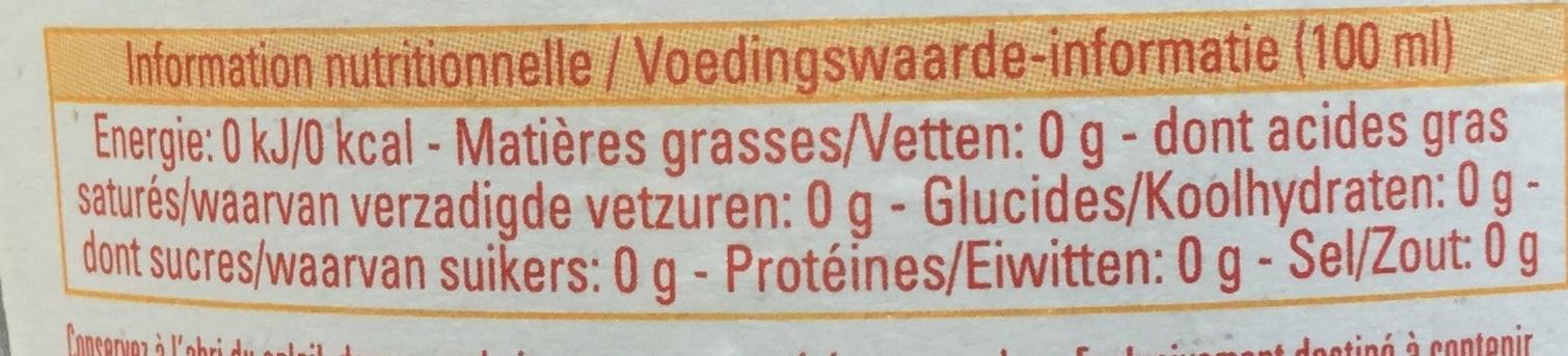 Touch of lemon - Voedingswaarden - nl