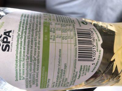 SPA apple - Ingrediënten - fr