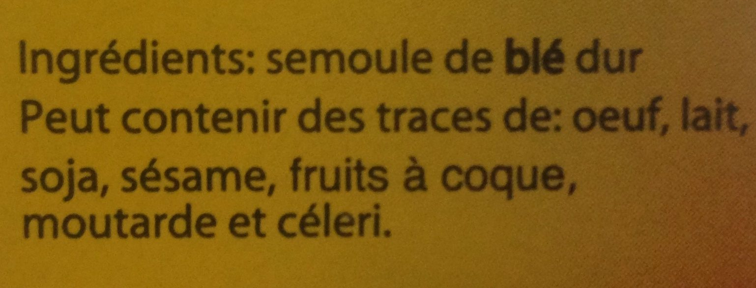 Semoule de blé dur - Ingrediënten - fr