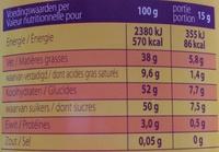 Kwatta fondant - Nutrition facts - fr