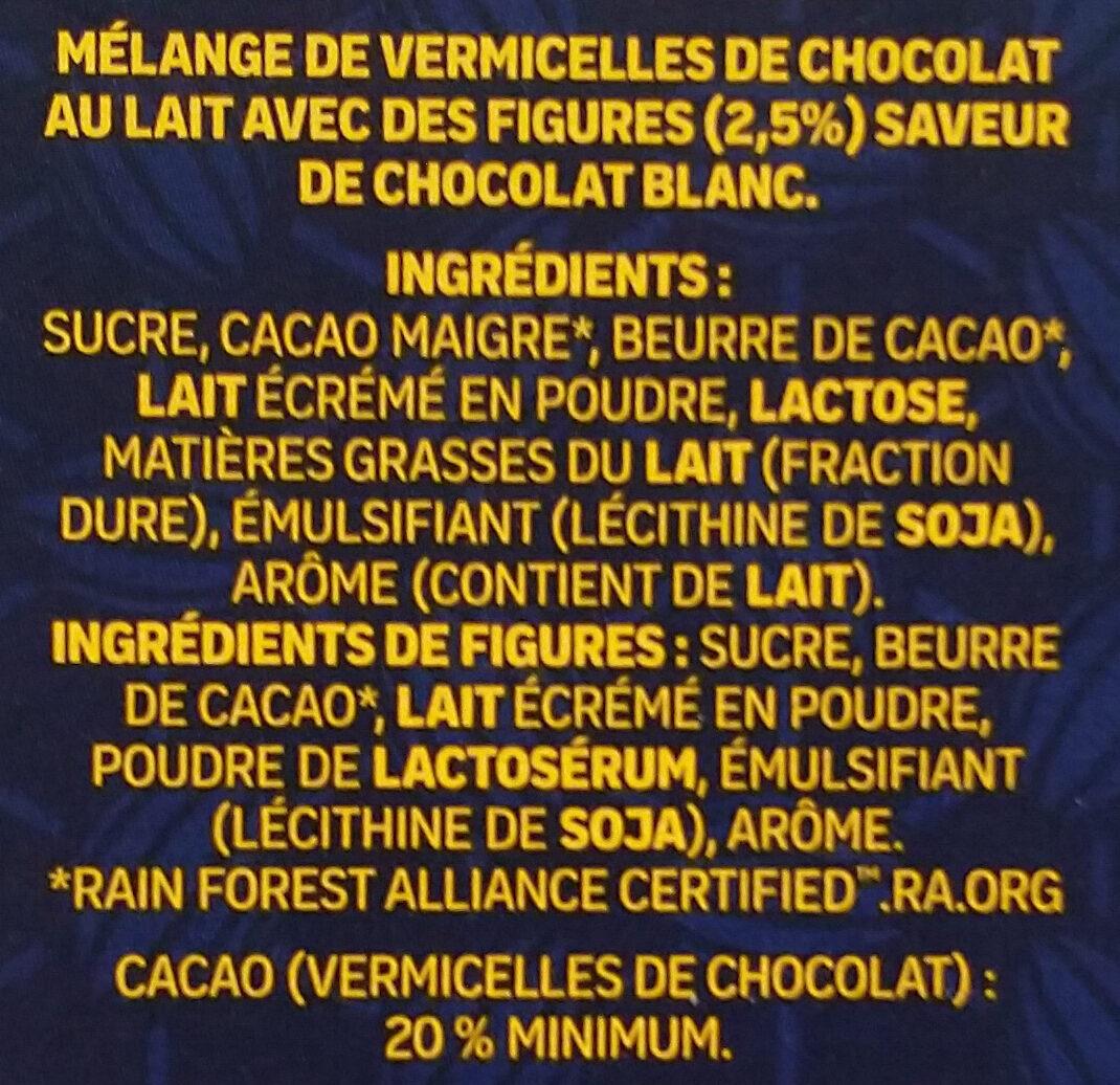 Sensations hiver lait - Ingrédients - fr