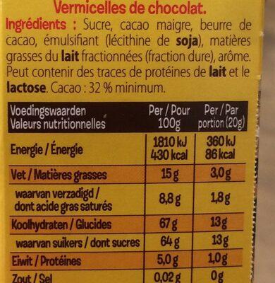 KWATTA Fondant - Ingrediënten - fr