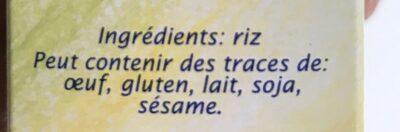 Semoule de riz - Ingrediënten - fr