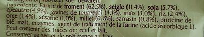 Mélange pour pain foncé 9 céréales - Ingredients - fr