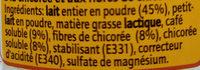 Instant Chicorée Soluble - Ingrediënten