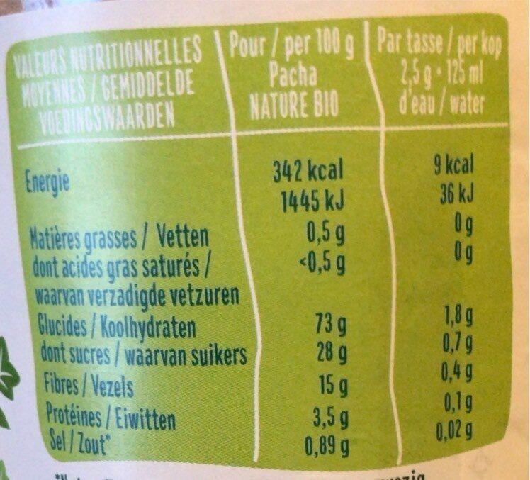 Chicorée Soluble - Valori nutrizionali - fr