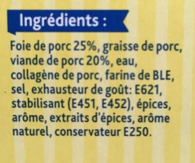 Pâté de foie - Ingredients