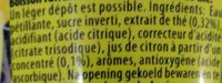 Lipton Original Sparkling Ice Tea - Ingredients - fr