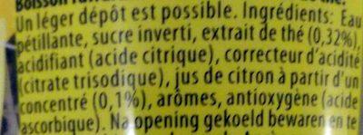 Lipton Original Sparkling Ice Tea - Ingredienti - fr