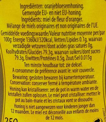 Honing honey - Ingredients - en