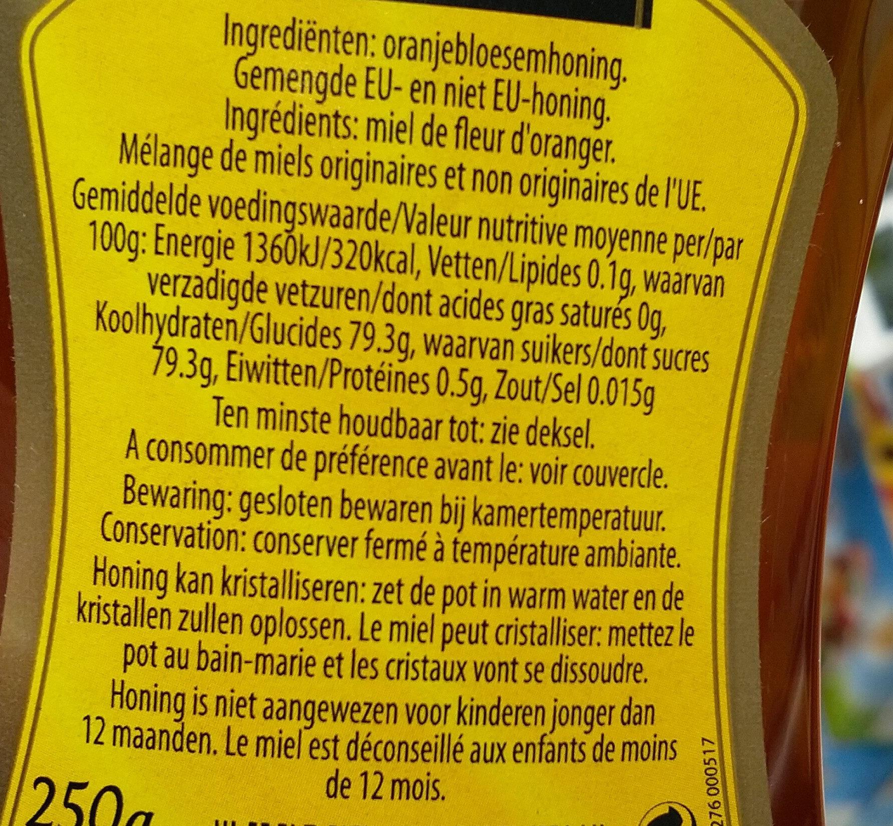 Honing honey - Nutrition facts - en