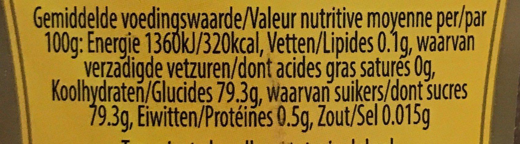 Miel de fleurs - Voedingswaarden