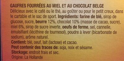 Gaufres au miel - Ingredients - fr