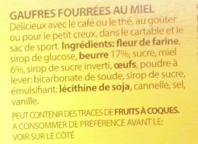 Meli - Ingrédients