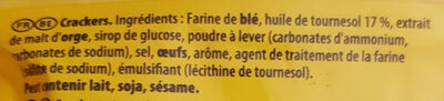 Tuc original - Biscuits salé - Ingredienti - fr