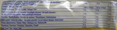 TUC Original - Información nutricional - de