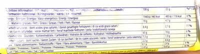 TUC Original - Informations nutritionnelles - fr