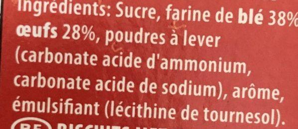 Boudoir - Ingrediënten
