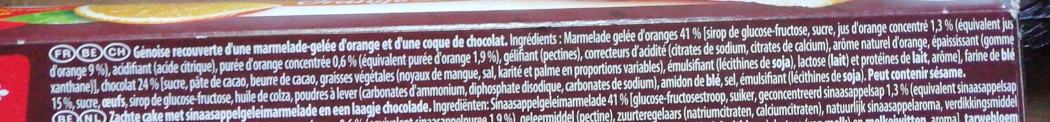 Pim's L'Original Orange - Ingredients - fr