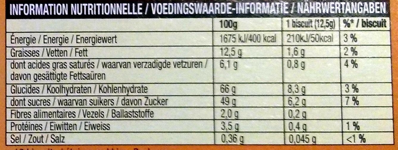 PiM's L'Original Orange - Nutrition facts