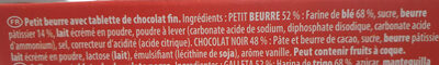 Petit écolier chocolat noir - Ingredients - fr