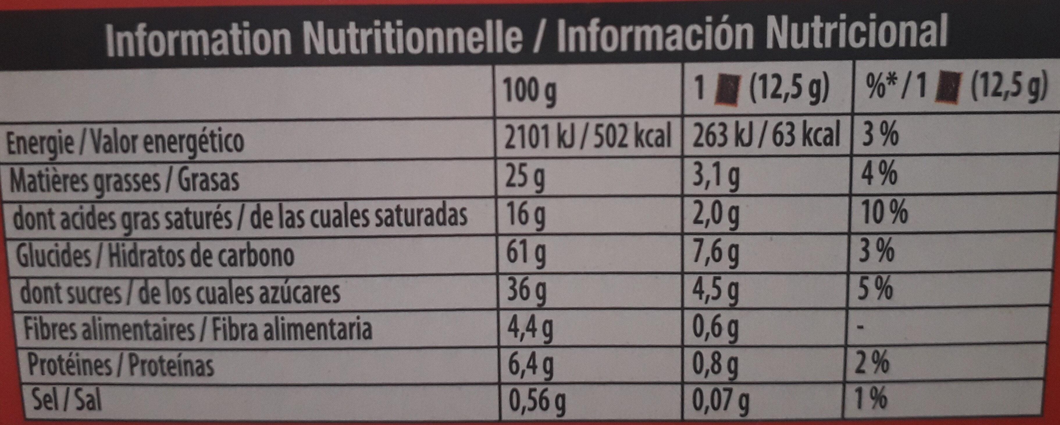 Petit écolier - Informations nutritionnelles - fr