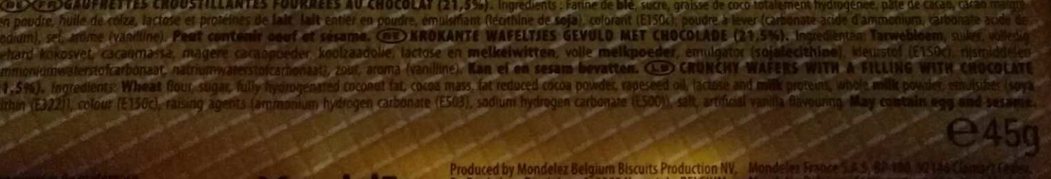 Centwafers - Ingredients
