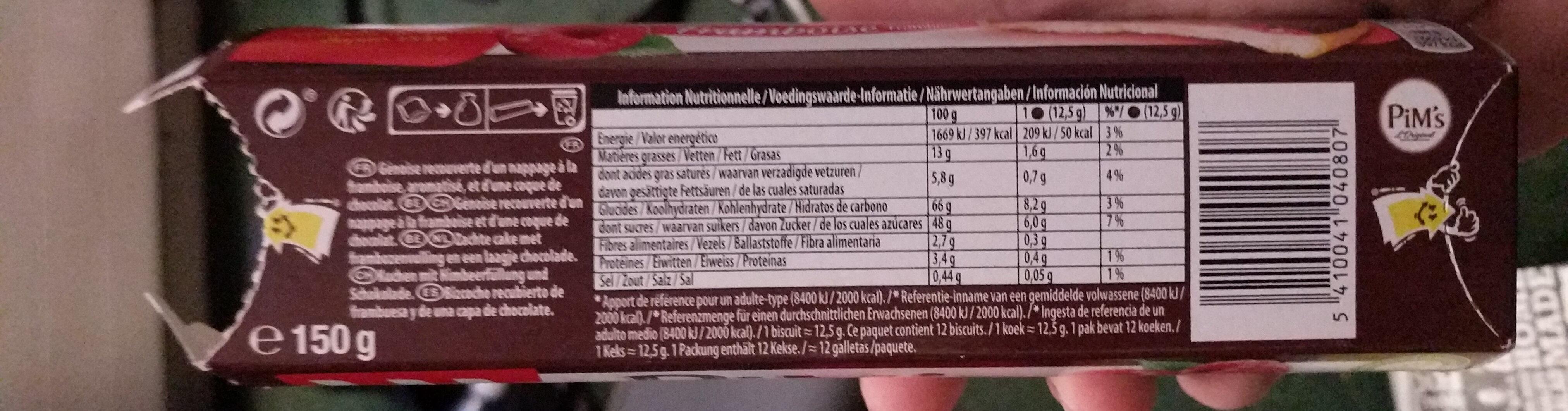 pims - Información nutricional - fr