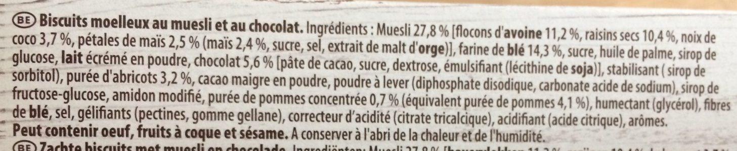 Barre de Céréales Chocolat - Ingrediënten