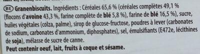 Grany Biscuit Céréales - Ingredienti - fr