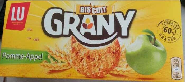 Biscuit Grany pomme - Product