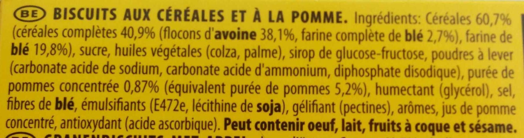 Biscuit Grany pomme - Ingrediënten