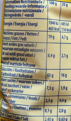 Tuc original - Voedingswaarden