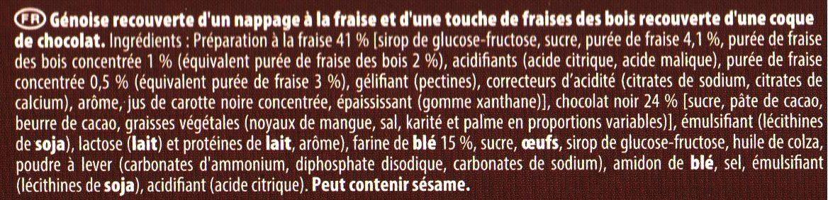 Pim's Fraise touche de Fraise des Bois - Ingredients