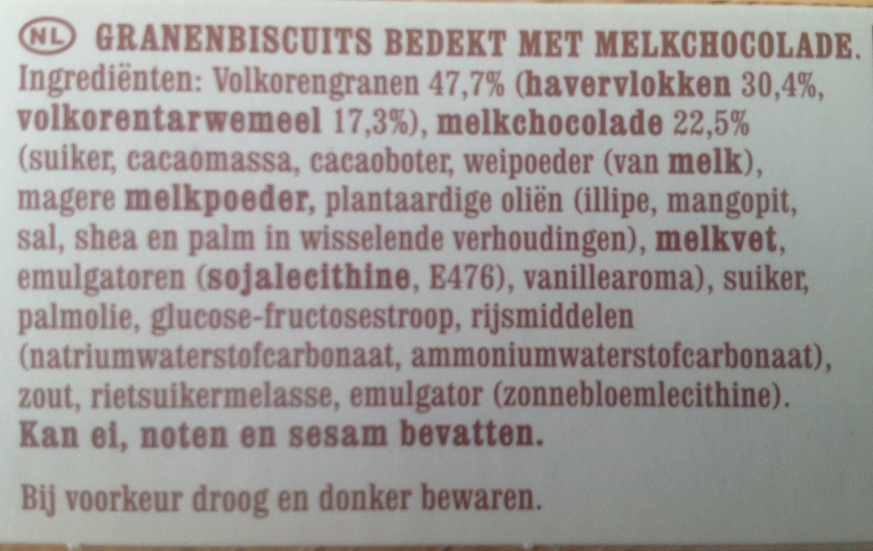 Dunne maiswafels - Ingrediënten - nl