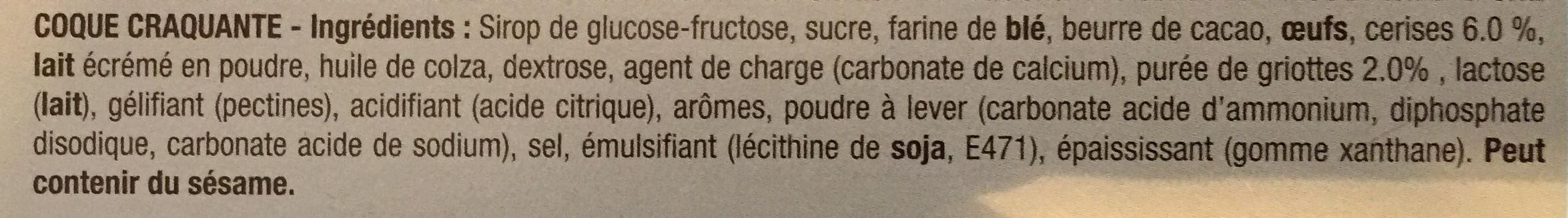 PiM's L'Original Cerise touche de Griotte - Ingrédients
