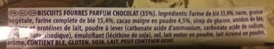 Prince Pocket goût chocolat - Ingrediënten