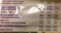 Prince Pocket goût chocolat - Voedigswaarden